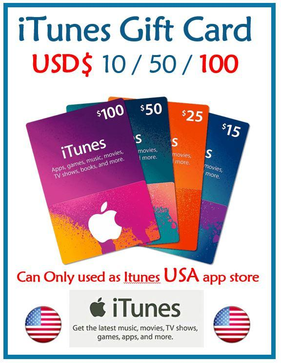 iTunes USD 100 Gift Cards (100USD)