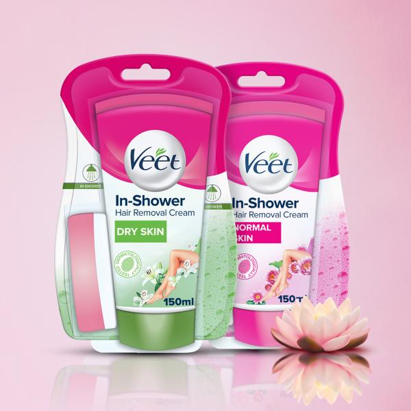 Buy 2 packs of Veet In-Shower Hair Removal Cream - 150ml Singapore