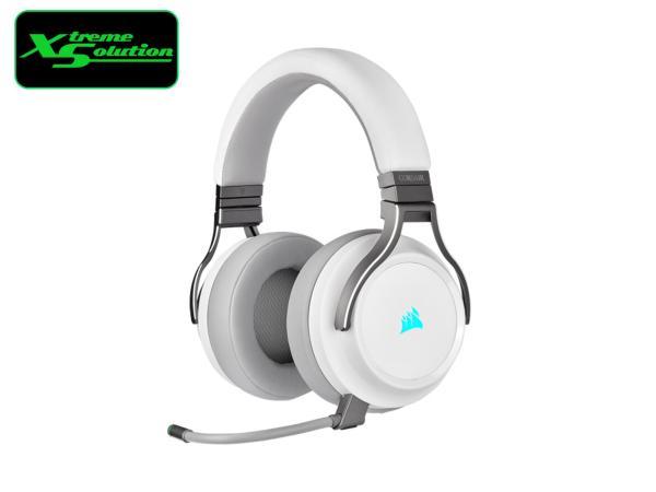 Corsair VIRTUOSO RGB WIRELESS High-Fidelity Gaming Headset — White / Black / Pearl