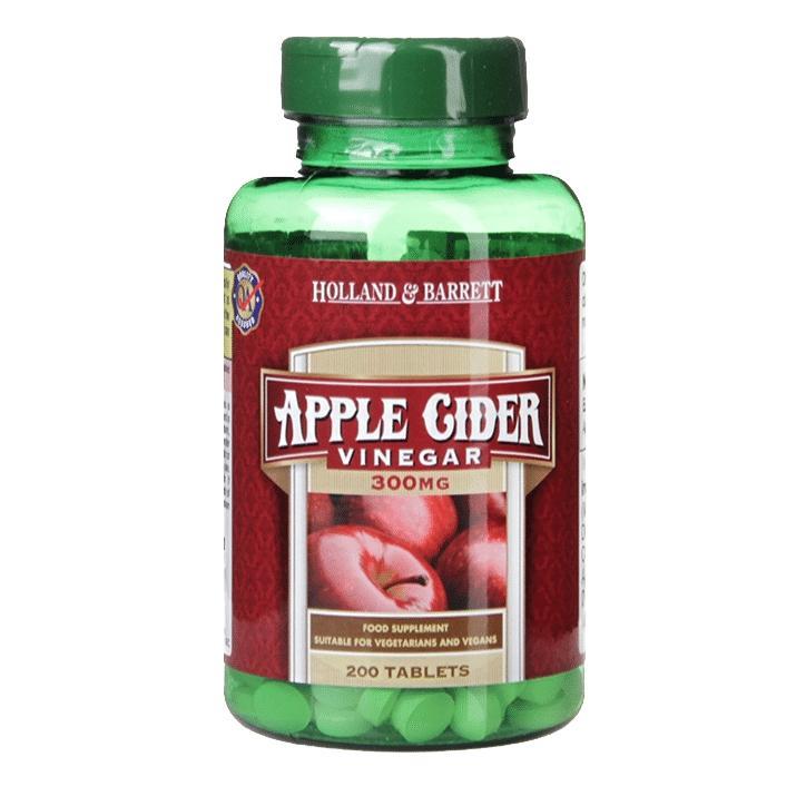 Holland Barrett Apple Cider Vinegar 200 Tablets 300mg