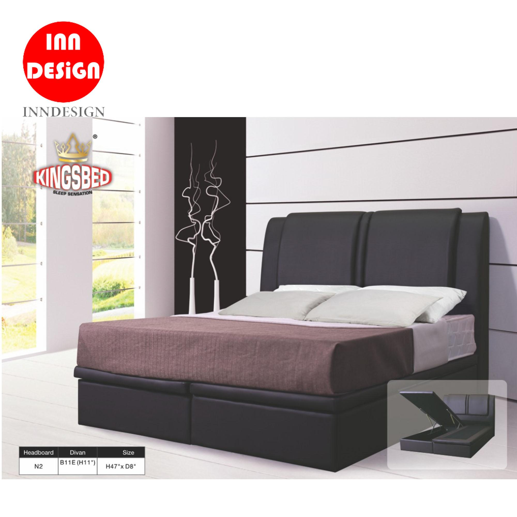 PU Leather Storage Bed with 11 Inches Divan