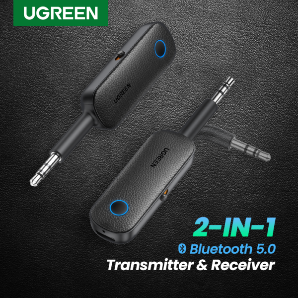 UGREEN 2-in-1 Bluetooth Transmitter Receiver Bluetooth 5.0 Adapter  Wireless 3.5mm Adapter Low Latency for TV/Home Sound System Singapore