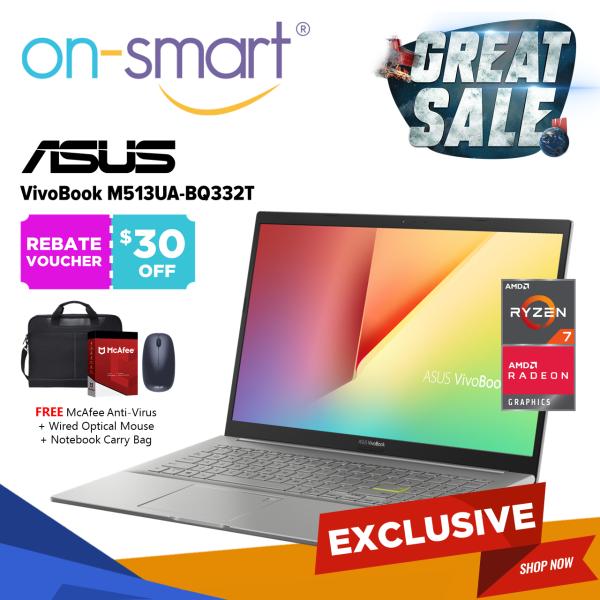 【Next Day Delivery】ASUS Vivobook 15 M513UA-BQ332T | AMD Ryzen 7 5700U Processor | 16GB RAM | 512GB NVMe SSD | AMD Radeon Graphics | Windows 10 Home | 2 Years International Warranty | Home Casual Laptop Computer