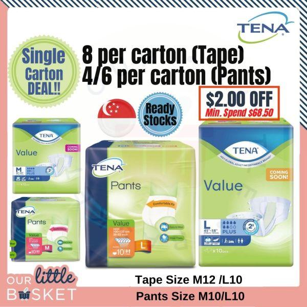 Buy TENA Value Adult Tape Diaper (Carton Deal.8 packs) - M12 / L10. FREE 1pcs Promotion Pack. FREE 8pcs/Carton Singapore
