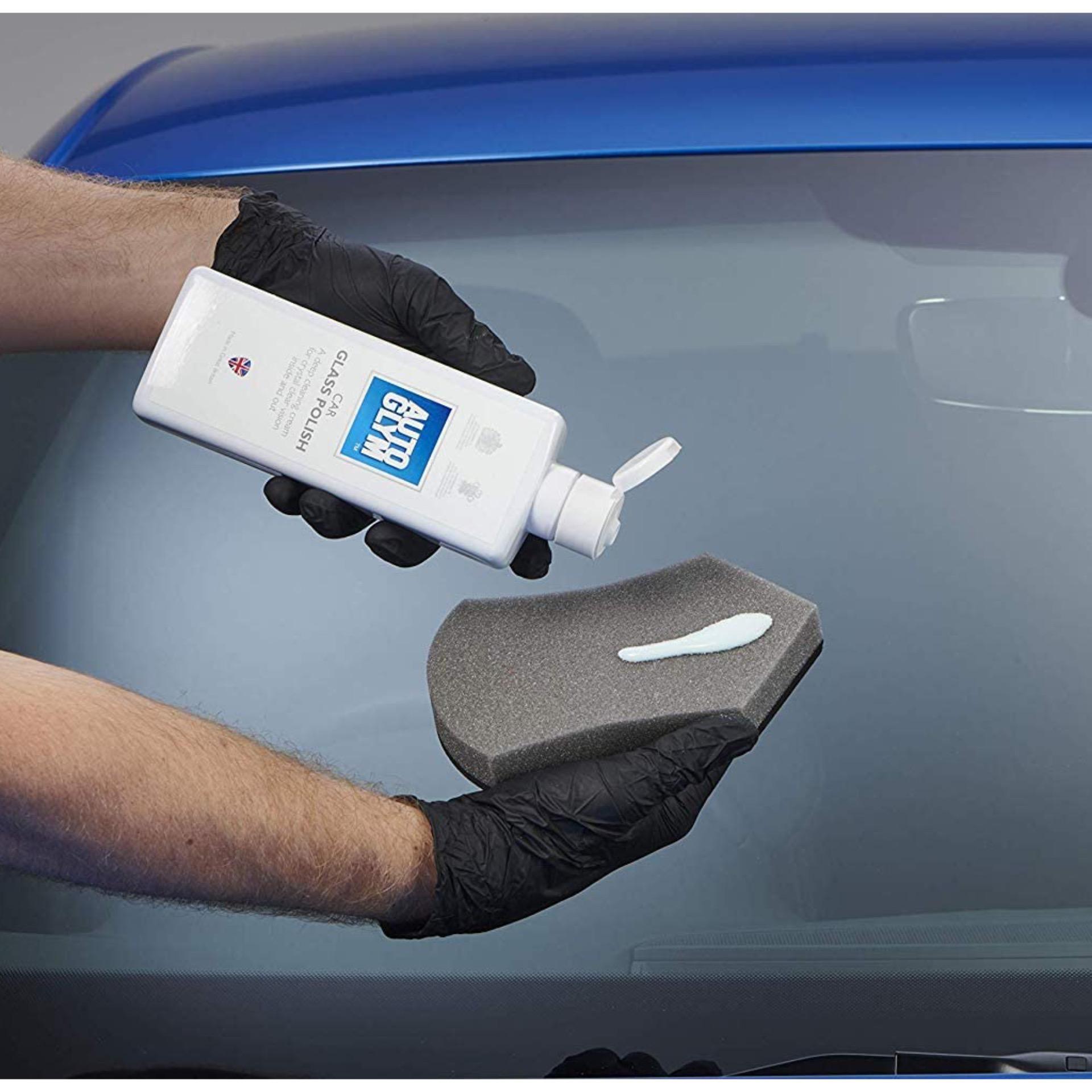 Autoglym Car Glass Polish 325ml | Deep Cleaning Cream For Crystal Clear Vision.