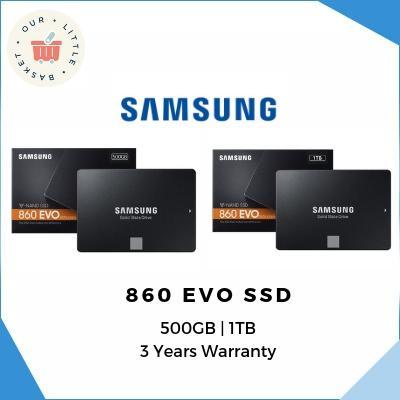 Samsung 860 Evo Sata Iii 2.5 Inch 500gb / 1tb Ssd W/warranty By Ourlittlebasket.