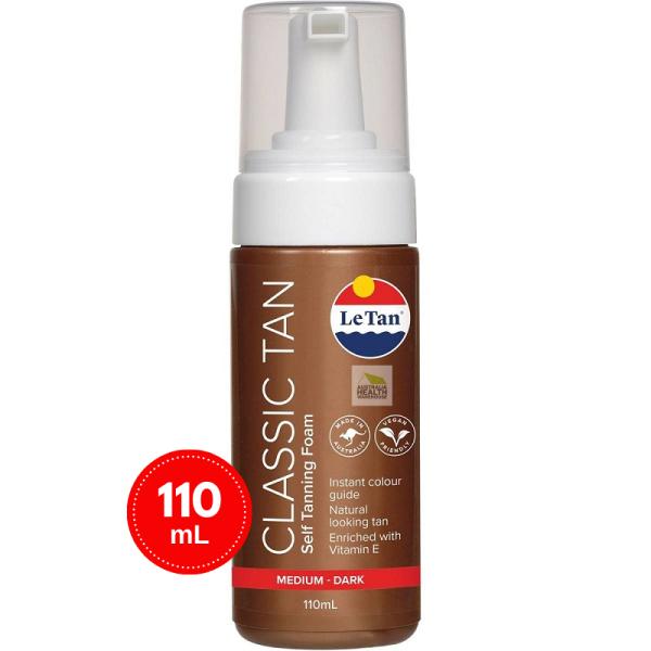 Buy Le Tan Classic Tan Self Tanning Foam Medium - Dark 110mL Singapore