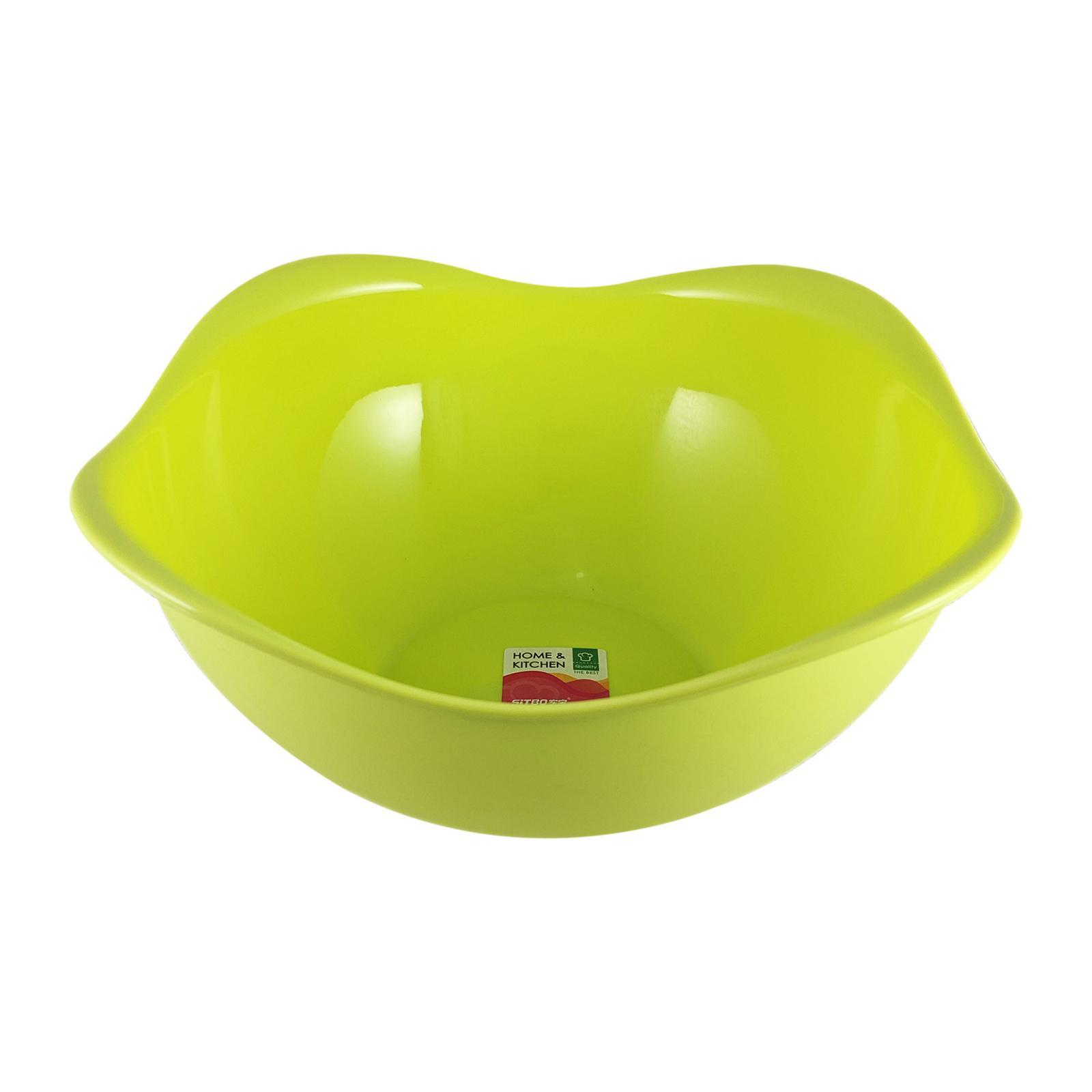 Sitbo Plastic Clover Large Multipurpose Fruit Bowl 29.5 CM (Green)