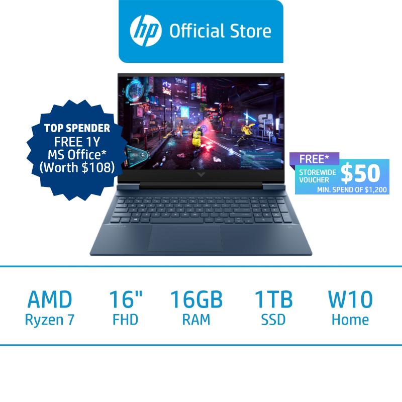 Victus by HP Laptop 16-e0095AX / AMD Ryzen 7 5800H / 16GB RAM / 1TB SSD / 16.1 FHD / Win 10 / 2 Years Onsite Warranty / 2 Years ADP
