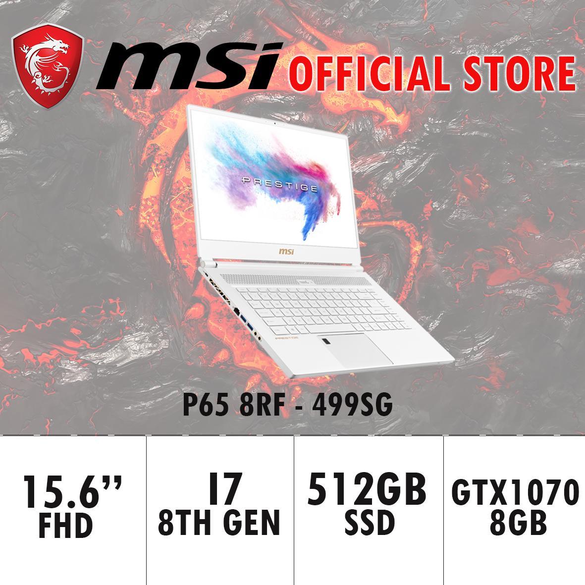 MSI P65 GTX1070 8RF – 499SG (i7-8750H / 16GB / 512GB SSD / WIN 10) 15.6 FHD with 144Hz Gaming Laptop