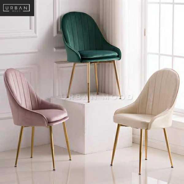 [Pre-Order] NOUVE Modern Velvet Dining Chair