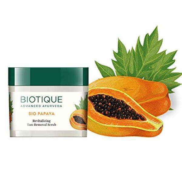 Buy Biotique Bio Papaya Revitalizing Tan Removal Scrub, 75g For All Skin Types Singapore