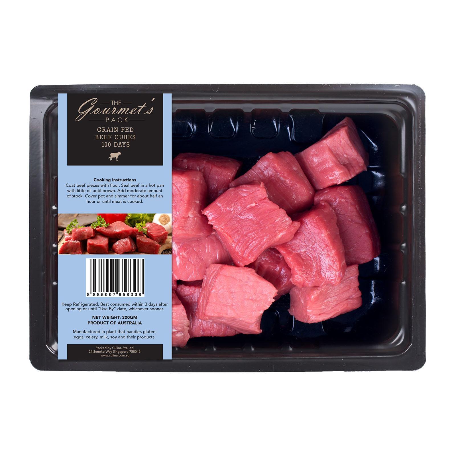 The Gourmet's Pack Grain Fed Beef Cubes - Australia