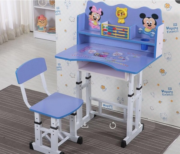 Kids Height Adjustable Study Table and Chair Set for Kids aged 3-18 (DIY Installation) ★ Study Desk For Kids ★ Children Study Desk ★ School Student Writing Desk Storage, Pencil Case, Bookstand Blue Pink