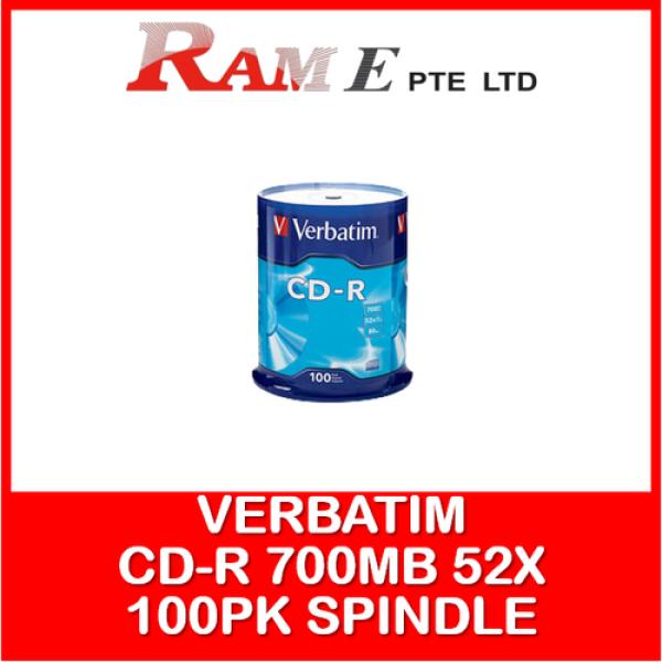 [ORIGINAL] [WHOLESALE] Verbatim CD-R 700MB 52X with Branded Surface - 100pk Spindle
