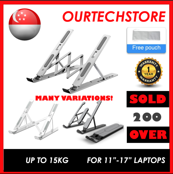 [SG Stock] Aluminium Laptop Stand ABS Portable Adjustable Height Fits ALL Laptop