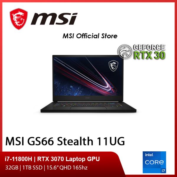 [Pre-Order] MSI GS66 Stealth 11UG-242SG Gaming Laptop (i7-11800H/RTX 3070/15.6 QHD 165hz/W10)-(2Y)
