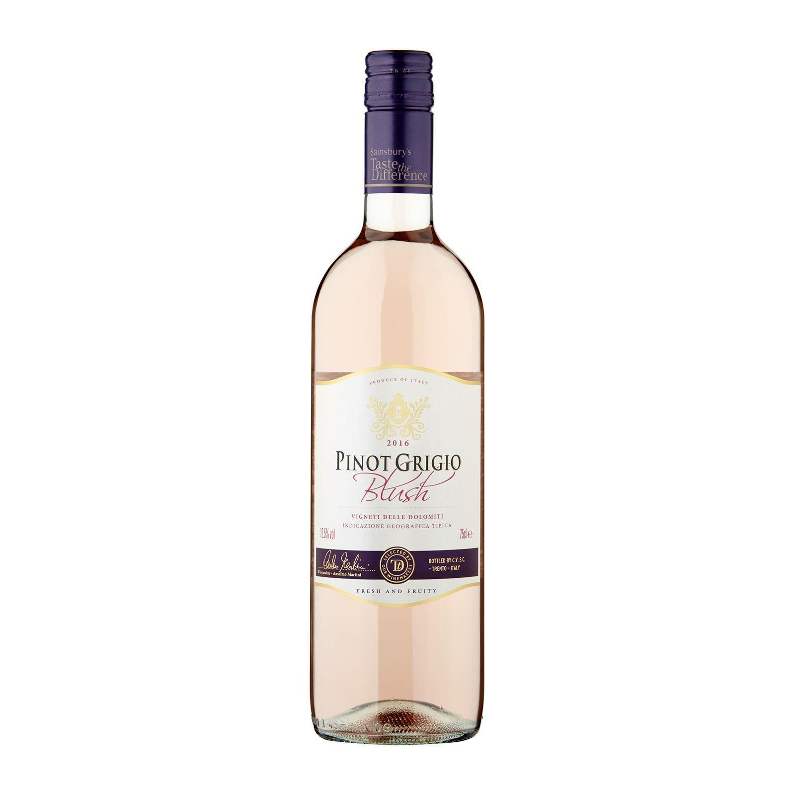 Sainsbury's House Pinot Grigio Blush Rose Wine