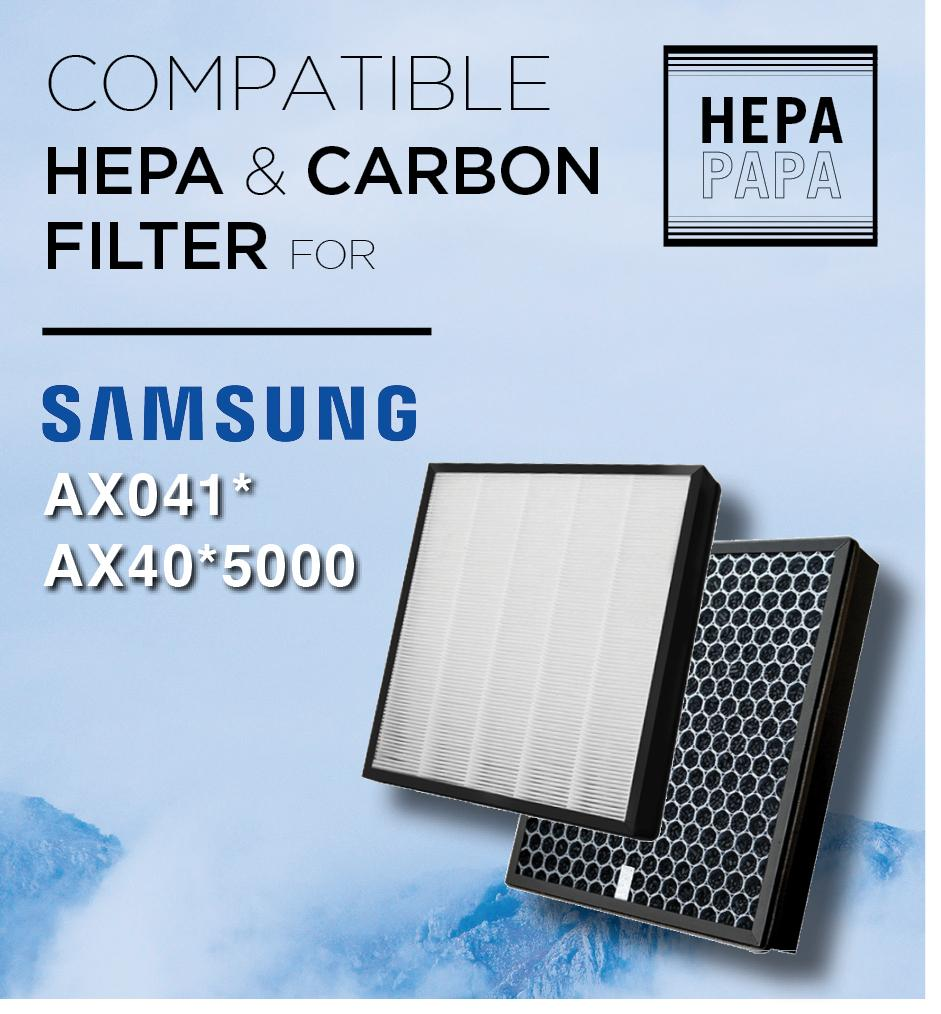 Compatible Replacement Filter For Samsung Ax041* / Ax40*5000 Air Purifier By Hepapapa.