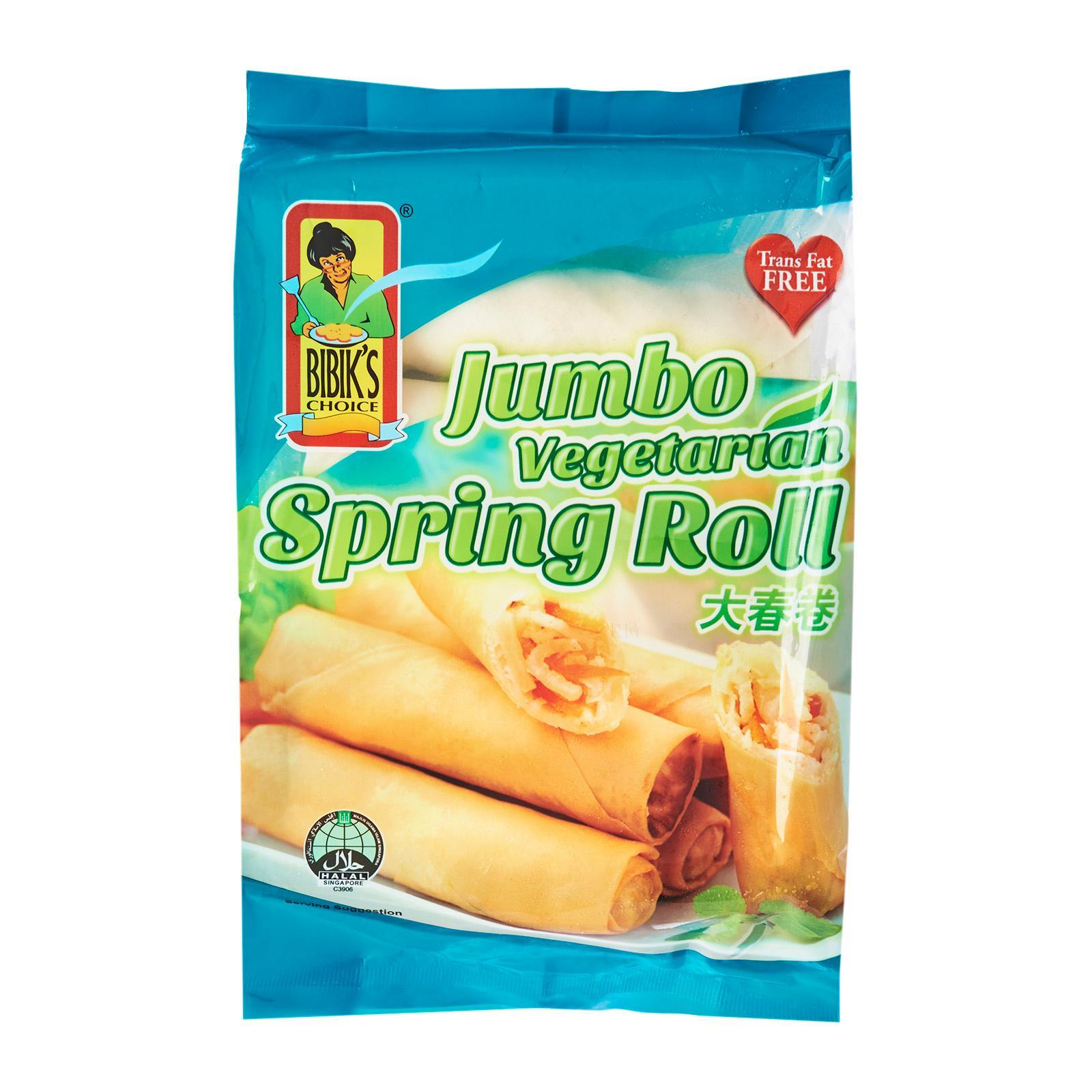 Bibik's Choice Jumbo Vegetarian Spring Roll - Frozen