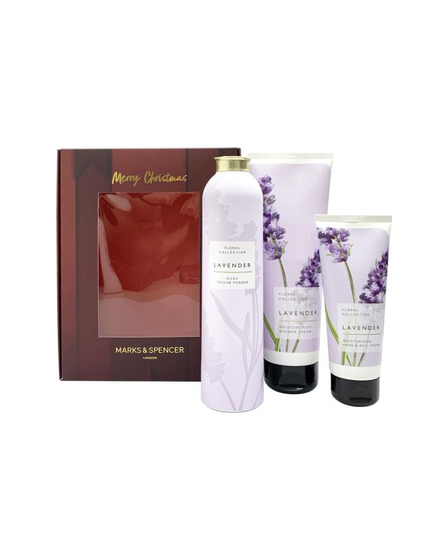 Buy M&S Lavender Shower, Talcum & Hand Cream Set Singapore