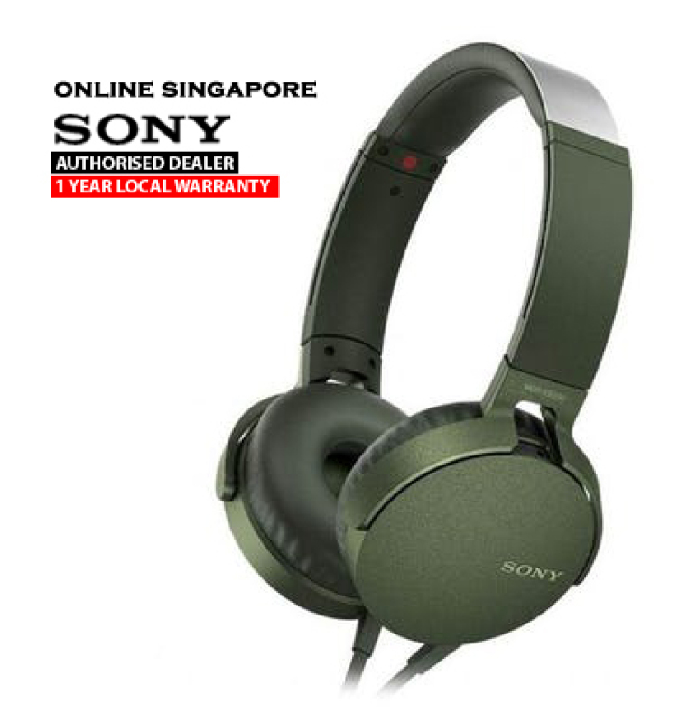 Online Singapore - Sony MDR-XB550AP EXTRA BASS Headphones with Microphone Singapore