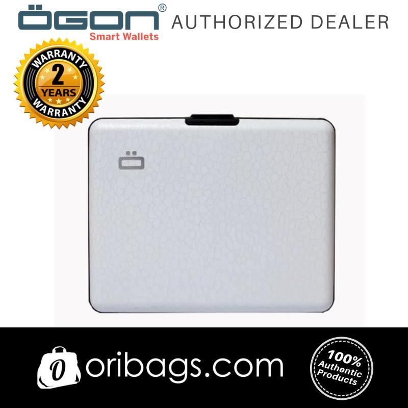 OGON Big Stockholm Wallet RFID Safe - Crackled White