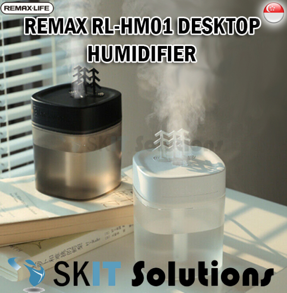 Remax RL-HM01 Black Forest Desktop Humidifier Diffuser Purifier Ambient Night Light High Capacity Singapore