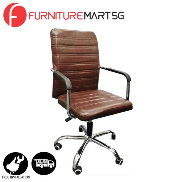 [FurnitureMartSG] Marina Office Chair in Brown_FREE DELIVERY + FREE INSTALLATION