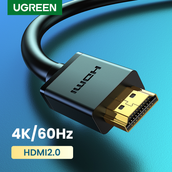 UGREEN HDMI Cable 4K HDMI 2.0 Male to Male High Speed HDMI Adapter 3D for Apple TV PS3/4/4 pro Nintendo Switch Projector 1M 2M 3M 5M HDMI(Black)-Intl Singapore