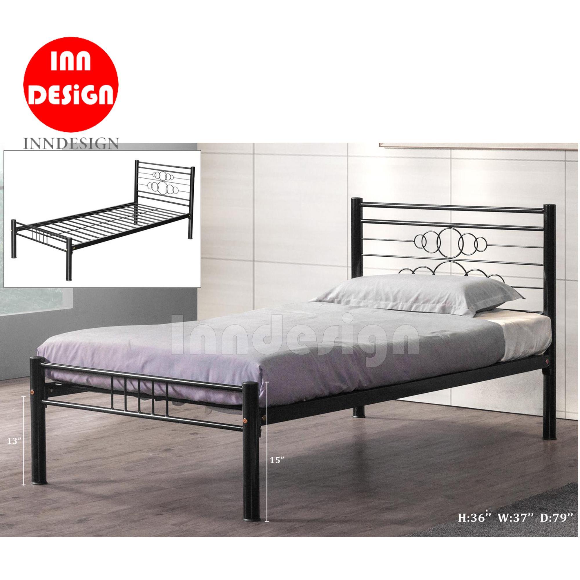 Single Metal Bed / Metal Bed Frame (Black)