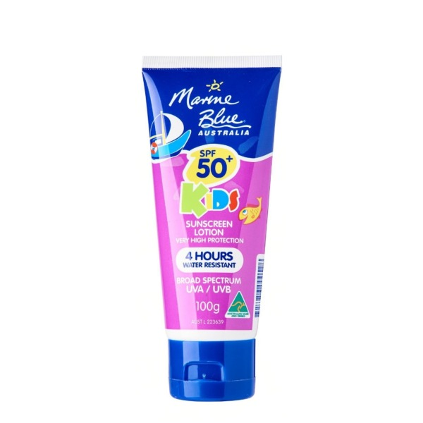 Buy MARINE BLUE KIDS SUNSCREEN LOTION SPF50+ 100G Singapore