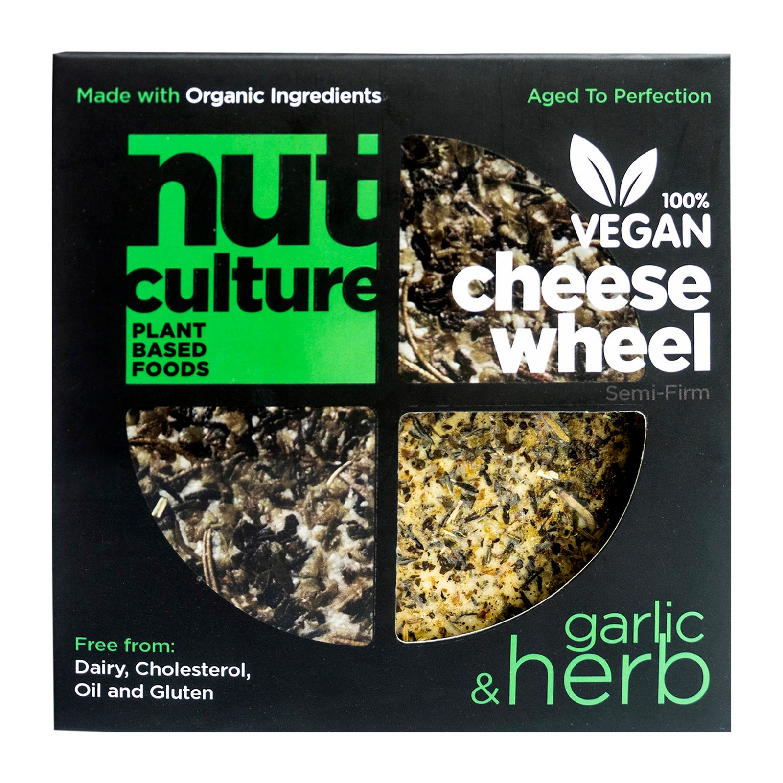 Nut Culture Garlic and Herb Vegan Cheese Wheel