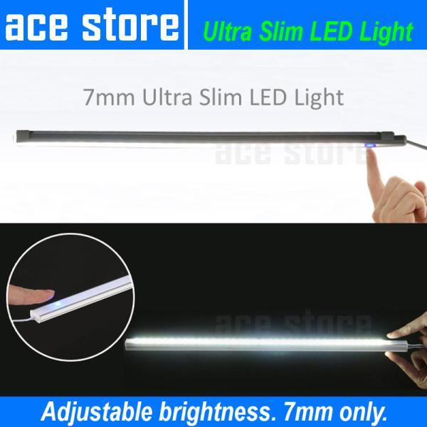 7mm Ultra Slim LED Light Touch Sensor and Adjustable Brightness for Kitchen Under Cabinet Light - Substitute for Table Lamp or T5 Light Tube