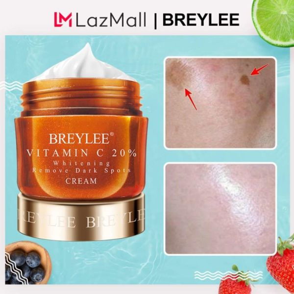 Buy BREYLEE Vitamin C Whitening Moisturizing Facial Cream 20% VC Fade Freckles Remove Dark Spots Melanin Remover Skin Brightening Cream Face Care Singapore