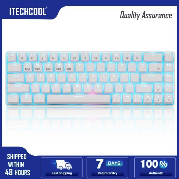 XM-RF68 Mechanical 68Key 3 Mode Bluetooth 2.4G Type-C Keyboard for Desktop Singapore
