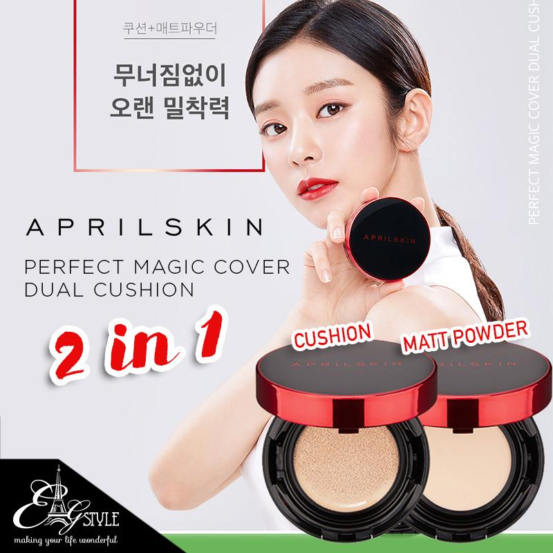 Aprilskin Perfect Magic Cover Dual Cushion By E.l.g Style.