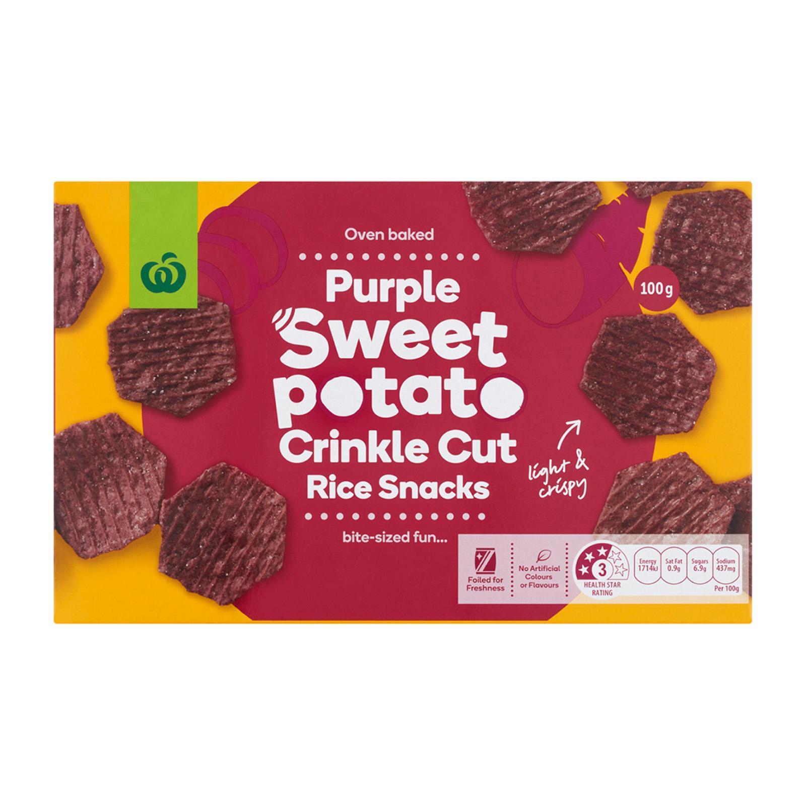 Woolworths Sweet Potato Rice Cracker 100G