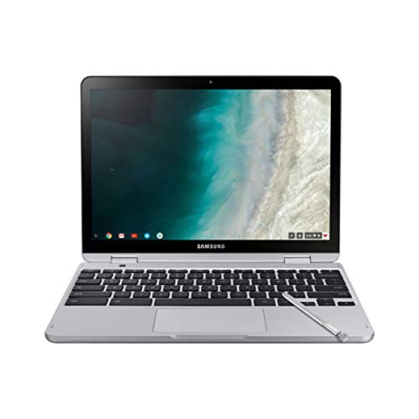 Samsung Chromebook Plus V2, 2-in-1, 4GB RAM, 32GB eMMC, 13MP Camera, Chrome OS, 12.2, 16:10 Aspect Ratio, Light Titan (XE520QAB-K01US)