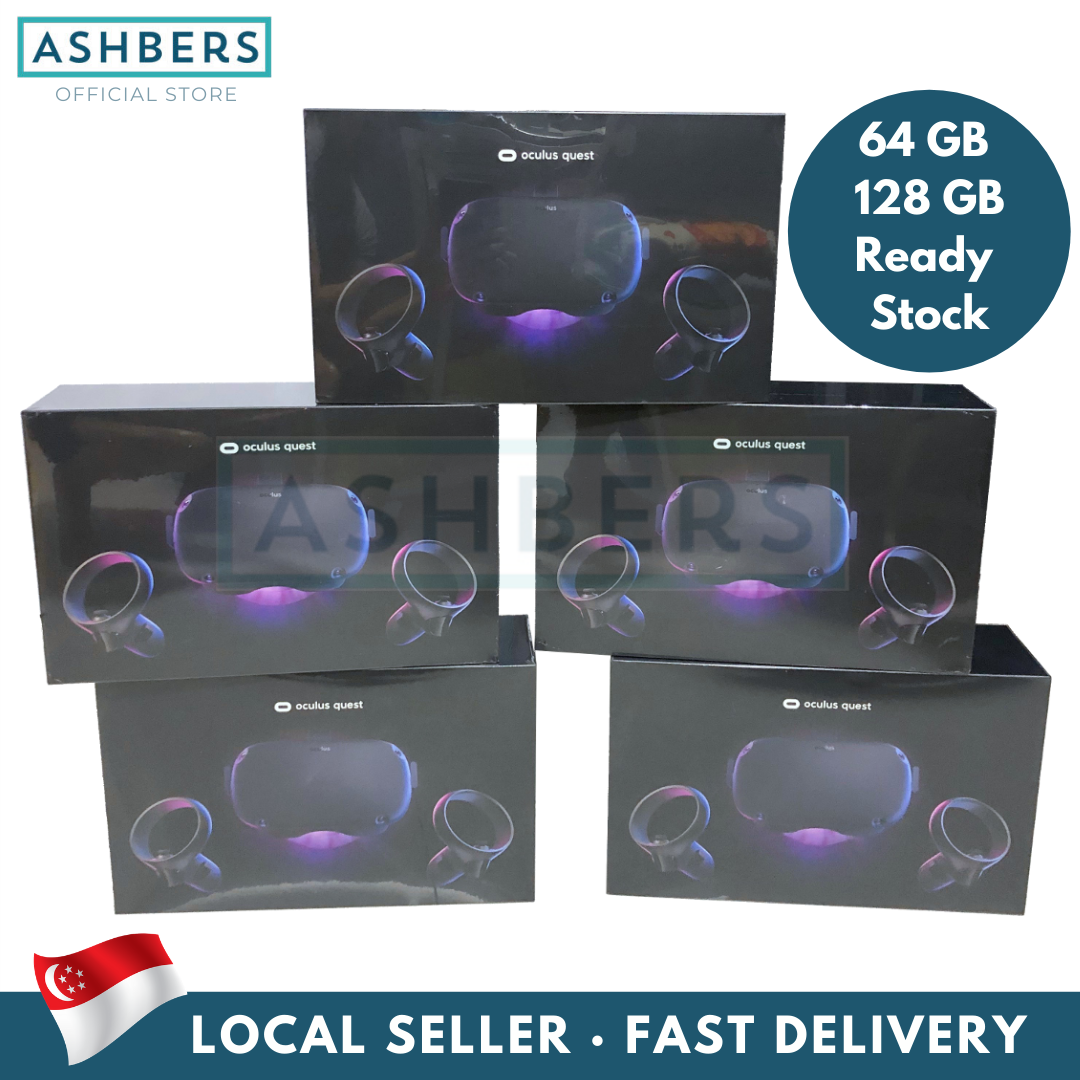 Oculus Quest Vr Gaming Headset (64gb & 128gb) Ready Stock, Virtual Reality 64 128.