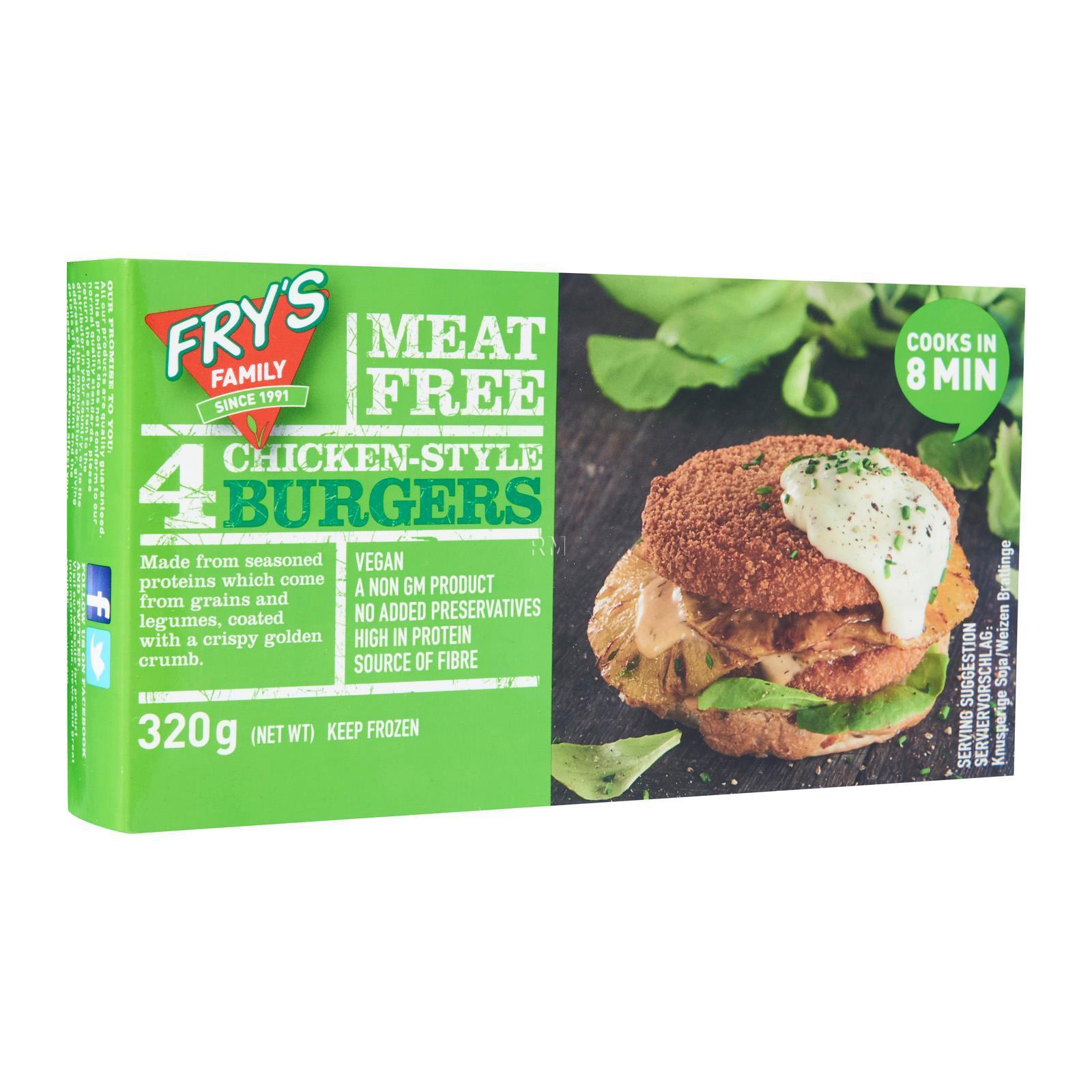 Frys Chicken-Style Burgers - Frozen By Redmart.
