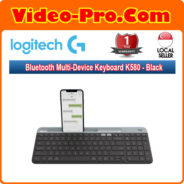 Logitech Bluetooth Multi-Device Keyboard K580 for Computers, Tablets and Smartphones Black / White 920-009210 / 920-009211 Singapore