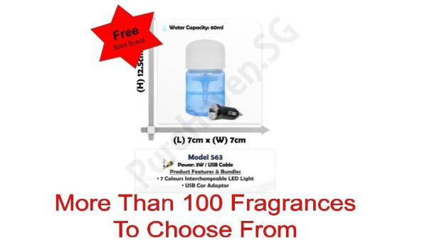 [BNIB] FOC 30ml Scent Liquid! Model 563 Mini Water Air Purifier 60ml Singapore