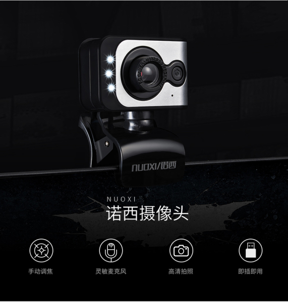 NUOXI USB desktop /laptop Webcam  /Camera with Mic HD 480P