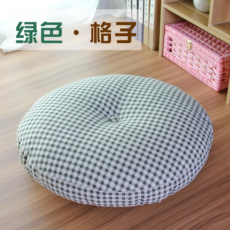 Cotton Linen throw pillow Futon Fabric Thick Circle Floor Terrace/Patio Window throw pillow Meditation Tatami throw pillow Sofa