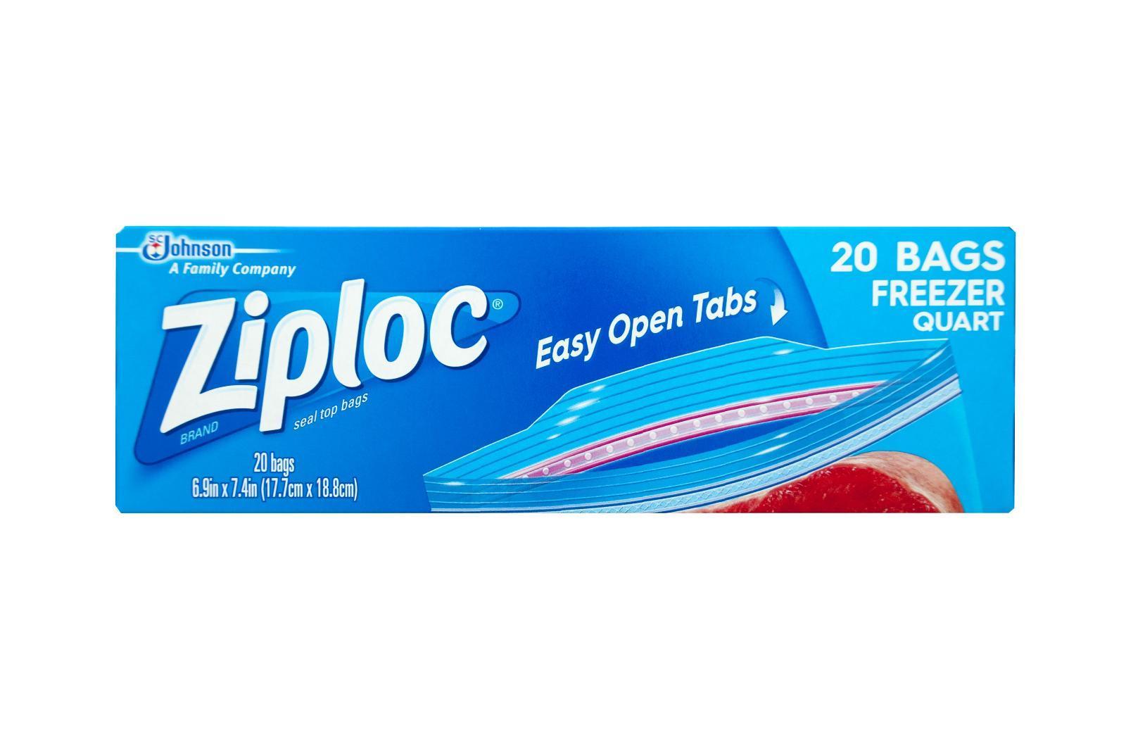 Ziploc Quart Freezer Bags 17.8x20.3cm By Redmart.