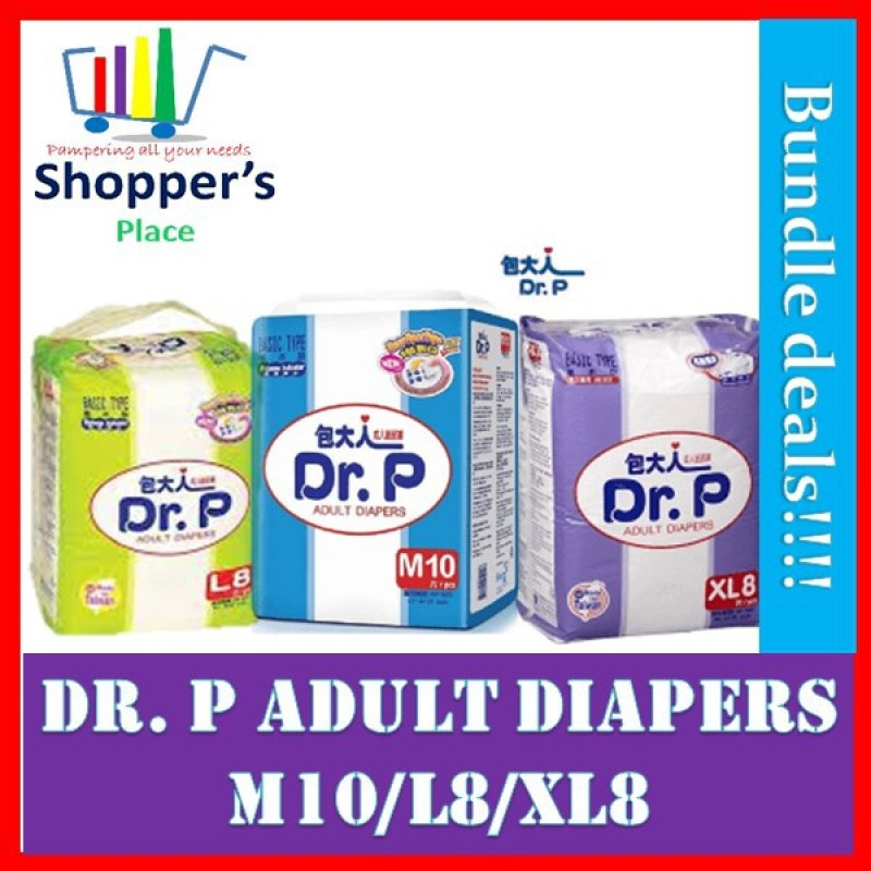 Buy Dr. P Adult Diapers M10/L8/XL8 Singapore
