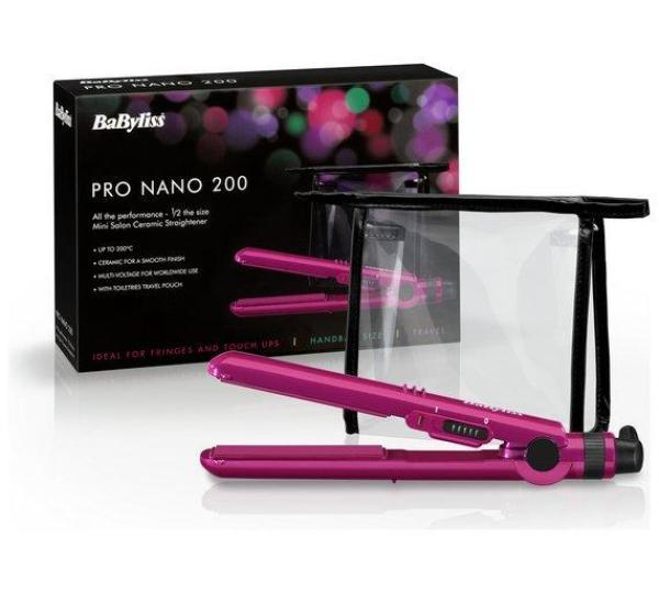 Buy BABYLISS 2861 BDU / BAU Pro 200 Nano Ceramic Mini Hair Straightener for Travel [ UNIVERSAL VOLTAGE ] Singapore