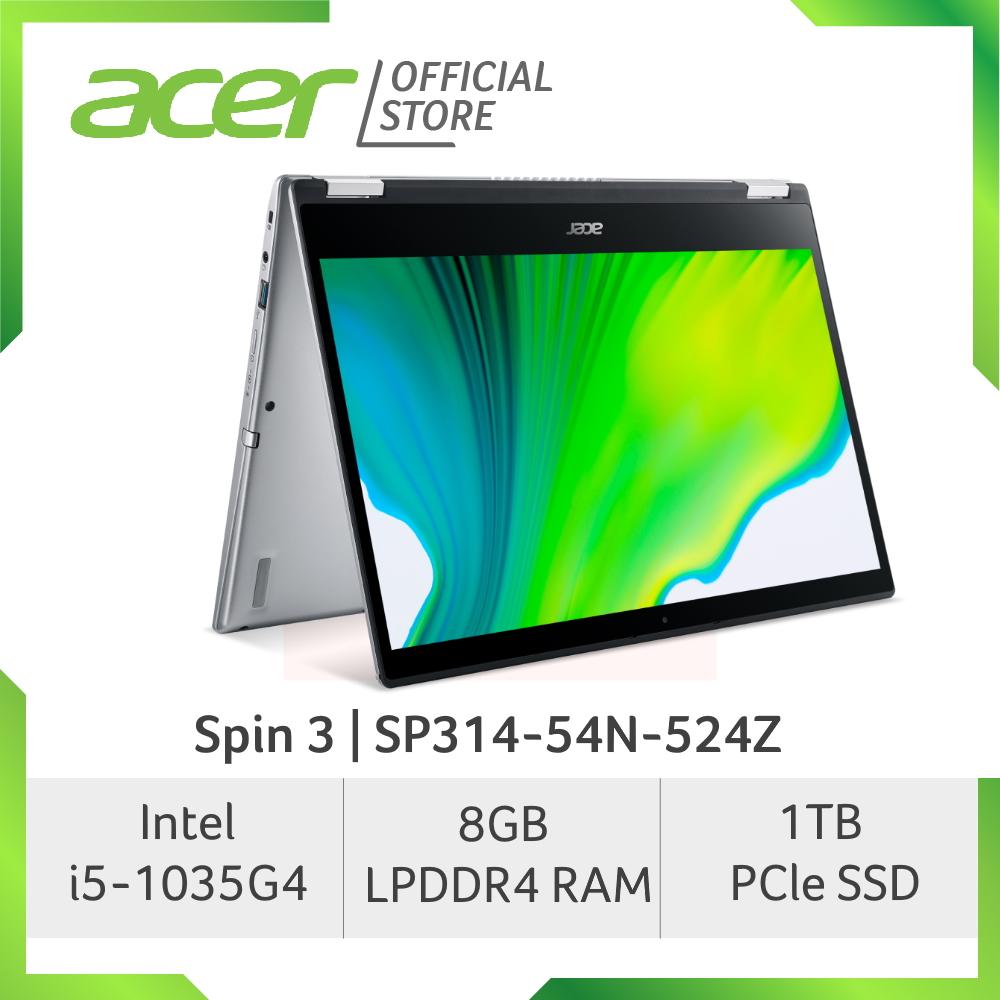 Acer Spin 3 SP314-54N-524Z (NEW) with 10th gen Intel i5-1035G4 and Intel Iris Plus Graphics laptop