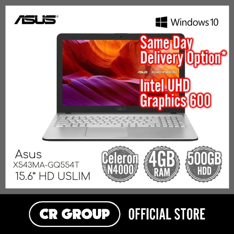 Asus X543MA-GQ554T 15.6 Inch HD | Intel® Celeron® N4000 | 4GB LPDDR4 RAM | 500GB HDD